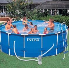 Бассейн INTEX круглый Metal Frame 457х122 см (комплект)