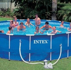 Бассейн INTEX круглый Metal Frame 549х122 см (комплект)