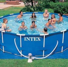 Бассейн INTEX круглый Metal Frame 457х107 см (комплект)